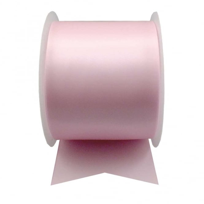 Satin Sash Ribbon 100mm (4inch) - Pale Pink - 1m