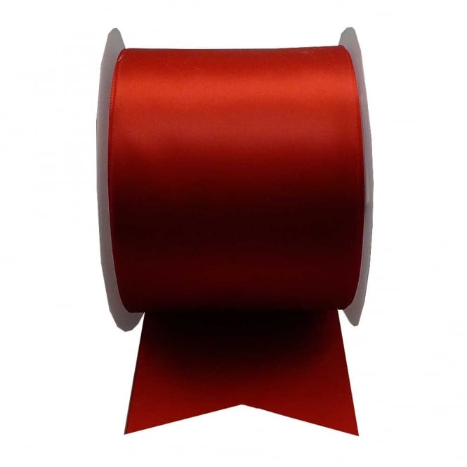 Satin Sash Ribbon 100mm (4inch) - Red - 1m