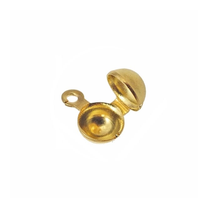 Side Hinge Calottes (10mm Cup) - Gold Plated