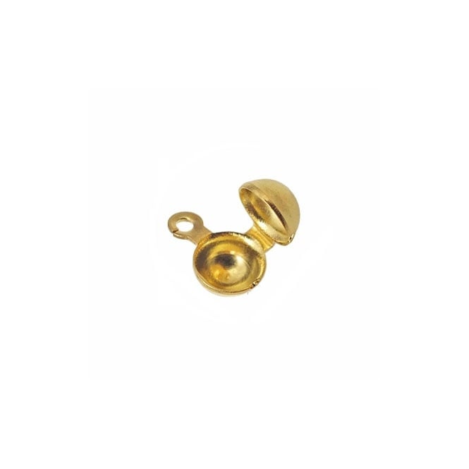 Side Hinge Calottes (3.2mm Cup) - Gold Plated