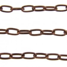Small Oval Chain - Antique Copper Plated