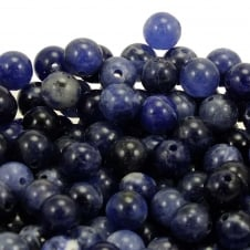 Sodalite Round Gemstone Beads 6mm - 10pcs