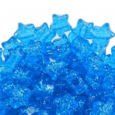 Star Pony Beads Plastic 12mm - Glitter Royal Blue - 50pk