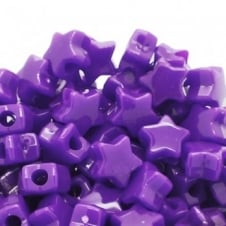 Star Pony Beads Plastic 12mm - Neon Purple - 50pk