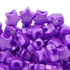 Star Pony Beads Plastic 12mm - Pearl Purple - 50pk
