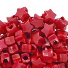 Star Pony Beads Plastic 12mm - Pearl Red - 50pk