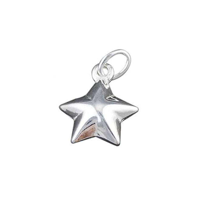 Sterling Silver - 10mm Star Shape Charm - 1pc