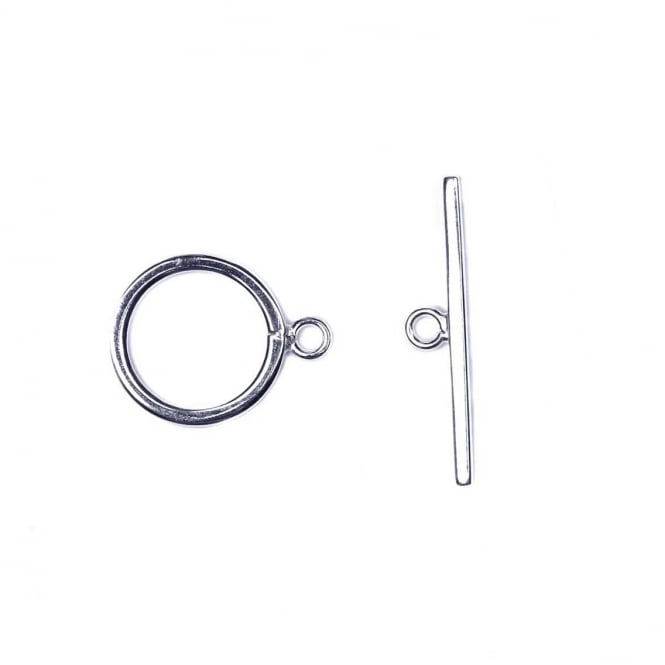 Sterling Silver - 12mm Toggle Bar Clasp - 1pc