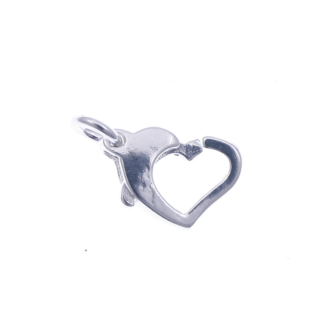 Sterling Silver - 13mm Heart Trigger Clasp - 1pk