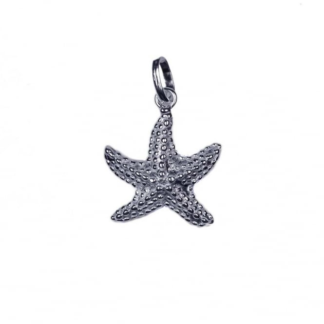 Sterling Silver - 15mm Starfish Charm - 1pc