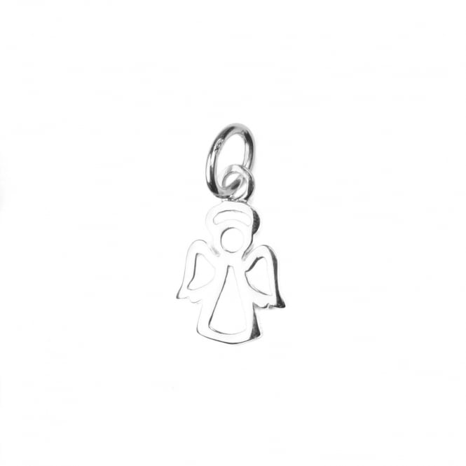 Sterling Silver - 15x10mm Angel Charm Pendant - 1pc