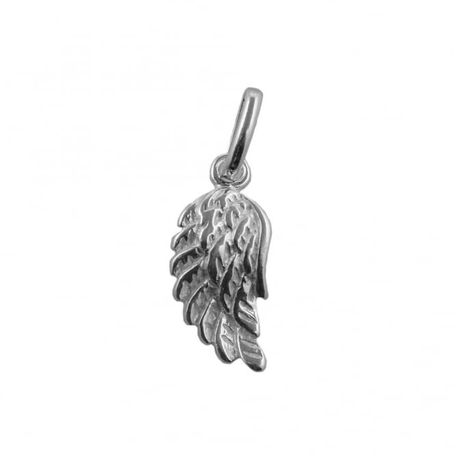 Sterling Silver - 15x12mm Angel Wing Charm - 1pc