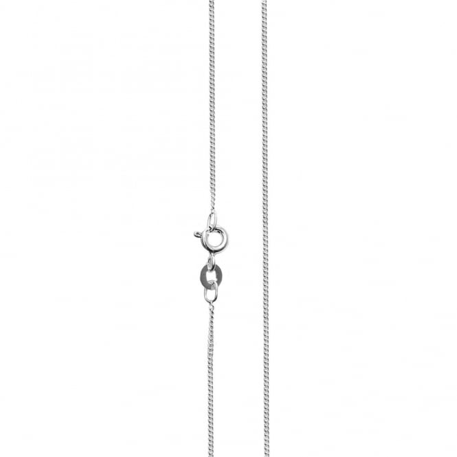 "Sterling Silver - 16"" Chain 0.30 Diamond Cut Necklace - 1pc"