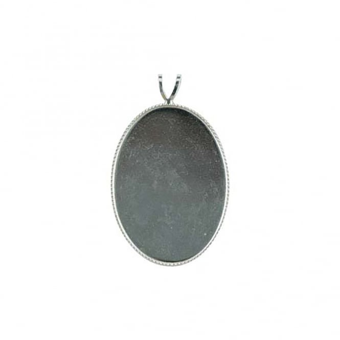 Sterling Silver - 18X13mm Pendant Mount - 1pc