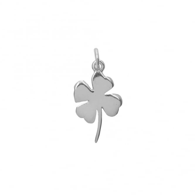 Sterling Silver - 20x12mm Four Leaf Clover Charm - 1pc