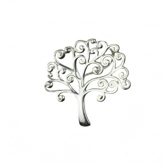 Sterling Silver - 21mm Tree of Life Pendant - 1pc