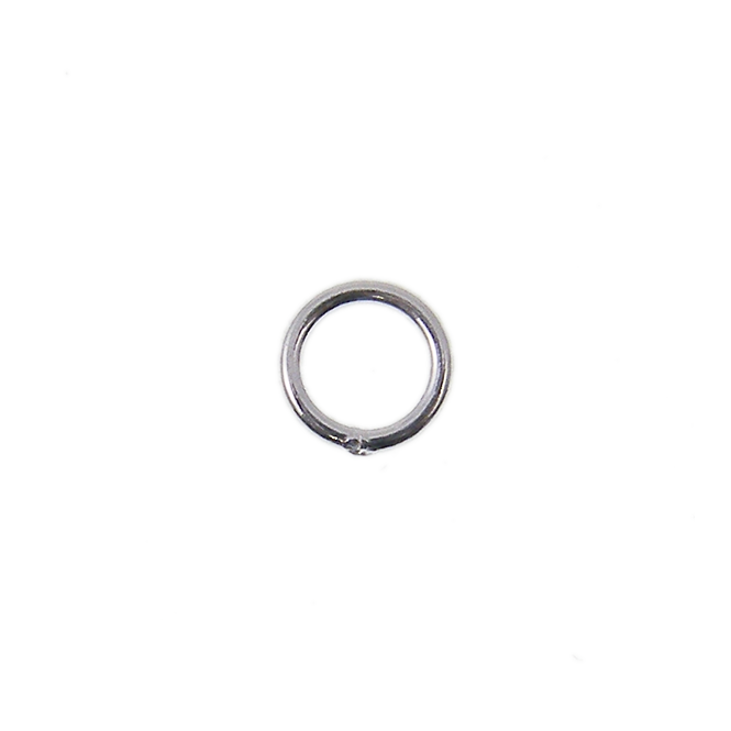 Sterling Silver - 4mm Closed Jump Rings - 5pcs