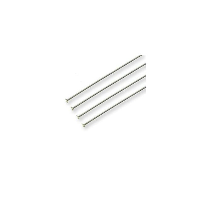 Sterling Silver - 50mm Headpin Findings - 10pk