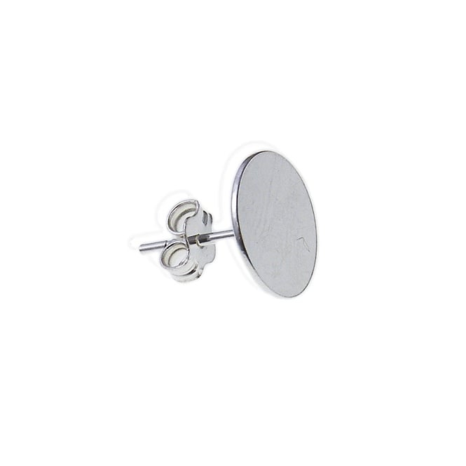 Sterling Silver - 5mm Flat Earstud With Scroll - 2pk