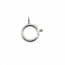 Sterling Silver - 6mm Bolt Ring Clasp With 3mm Closed Ring - 2pk