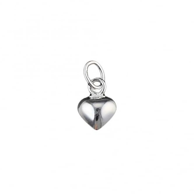 Sterling Silver - 6mm Puffed Heart Charm Pendant- 1pc