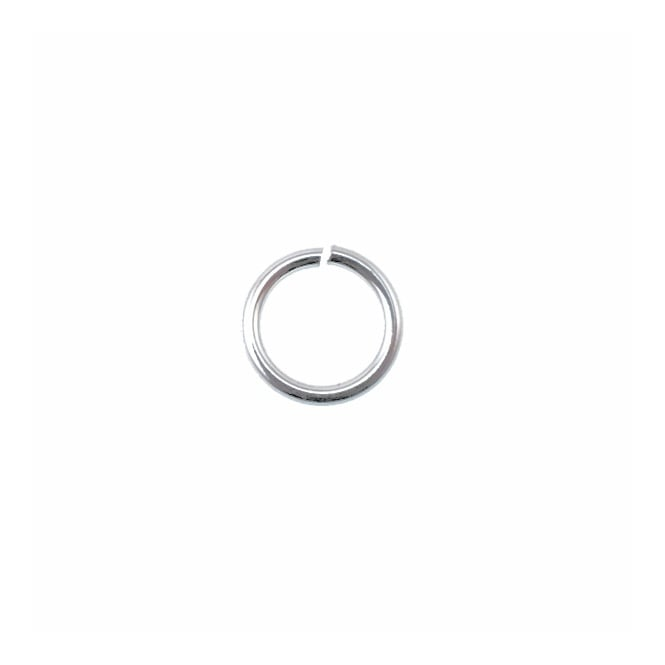 Sterling Silver - 8mm Jump Ring (0.8mm Dia) - 10pk