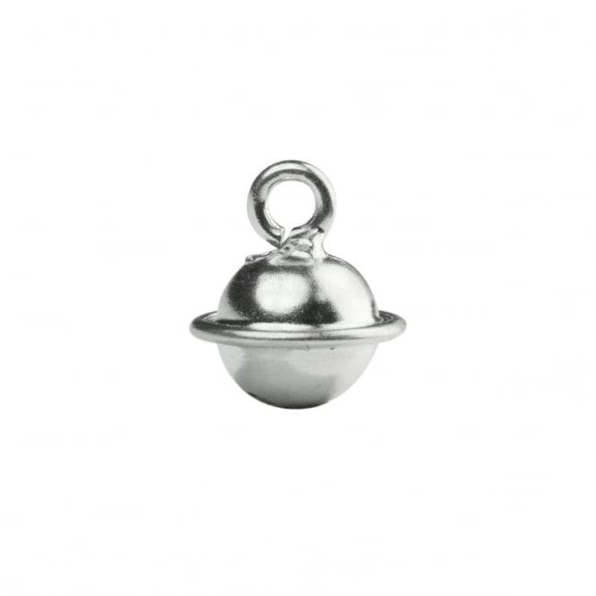 Sterling Silver - 8mm Round Jingle Bell Charm - 1pc