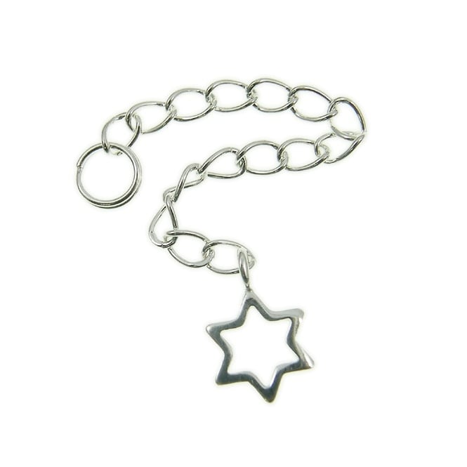 Sterling Silver - Extension Chain with Star - 1pk