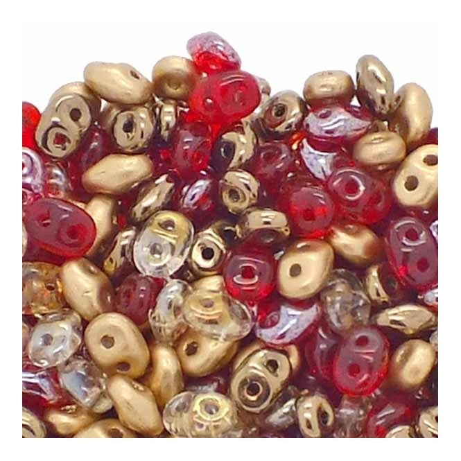 SuperDuo Bead Mix 2.5x5mm - Buried Treasure - 10g