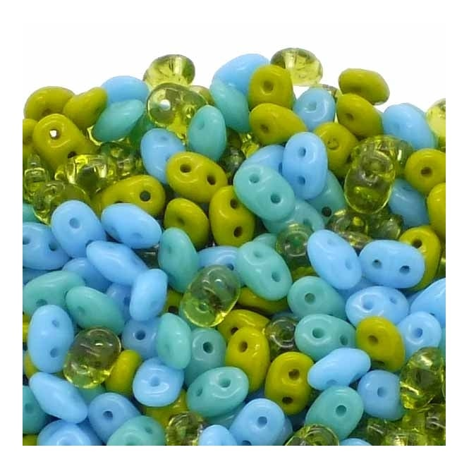 SuperDuo Bead Mix 2.5x5mm - Secret Lagoon - 10g