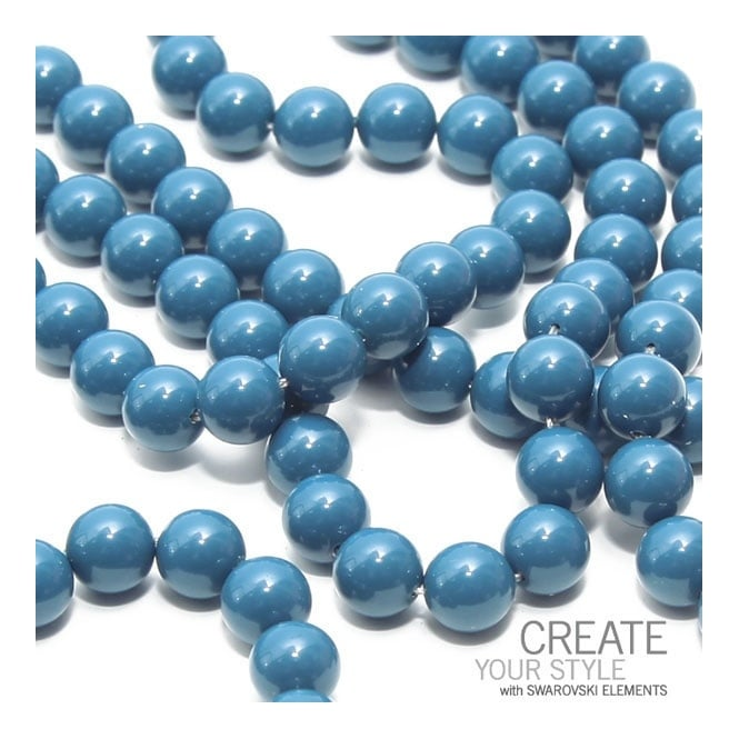 5810 10mm Round Pearl Beads - Crystal Lapis - 5pk