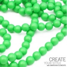 Swarovski 5810 10mm Round Pearl Beads - Crystal Neon Green - 5pk