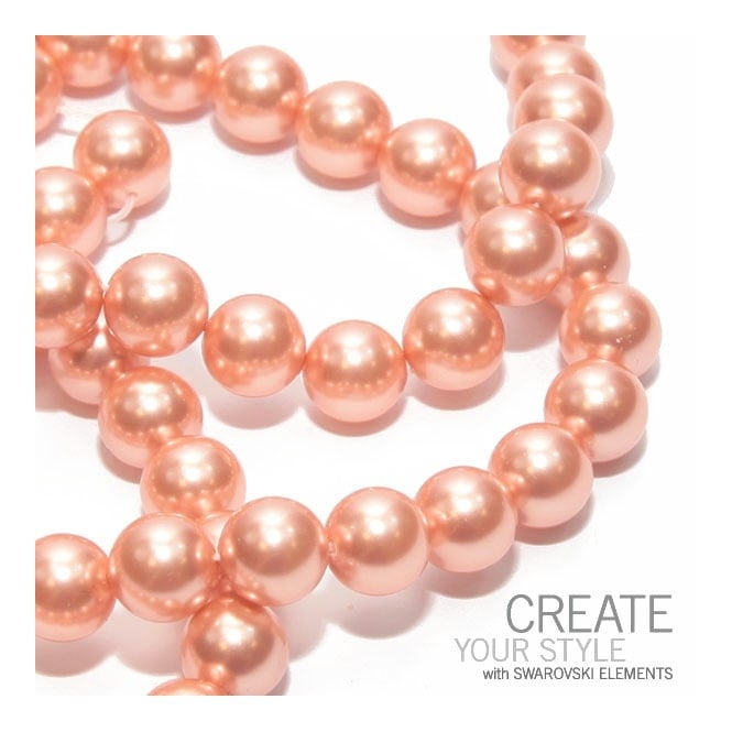 5810 10mm Round Pearl Beads - Crystal Rose Peach - 5pk