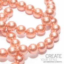 Swarovski 5810 10mm Round Pearl Beads - Crystal Rose Peach - 5pk