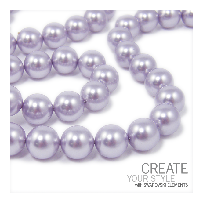 5810 12mm Round Pearl Beads - Crystal Lavender - 5pk