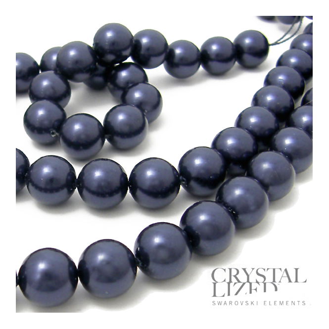 5810 12mm Round Pearl Beads - Crystal Night Blue - 5pk