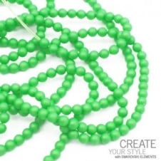 Swarovski 5810 3mm Round Pearl Beads - Crystal Neon Green - 200pk
