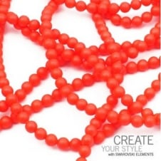 Swarovski 5810 3mm Round Pearl Beads - Crystal Neon Red - 200pk