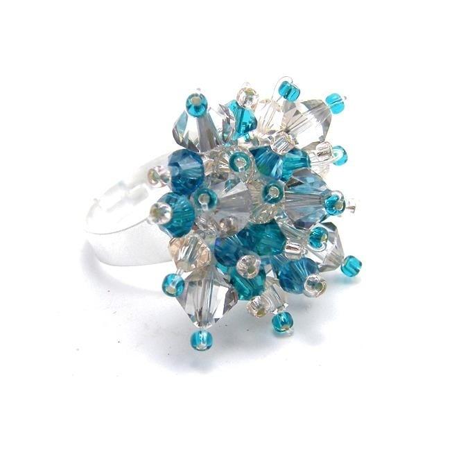 c6970c3dd Swarovski Blue Sparkle Mesh Ring Kit - The Bead Shop