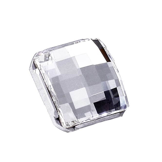 1812 - 13mm Square Button with Metal Shank - 1pk