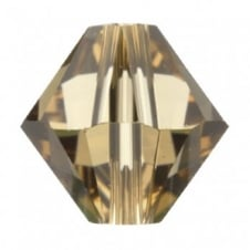 Swarovski 5328 - 6mm Xilion Bicone Bead - Light Colorado Topaz - 10pk