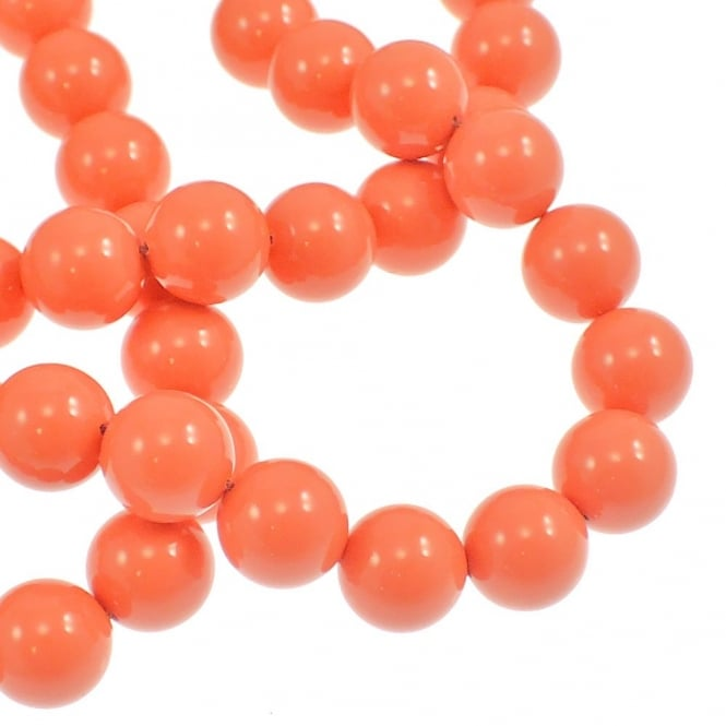 5810 12mm Round Pearl Beads - Crystal Coral - 5pk