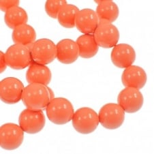 Swarovski 5810 12mm Round Pearl Beads - Crystal Coral - 5pk