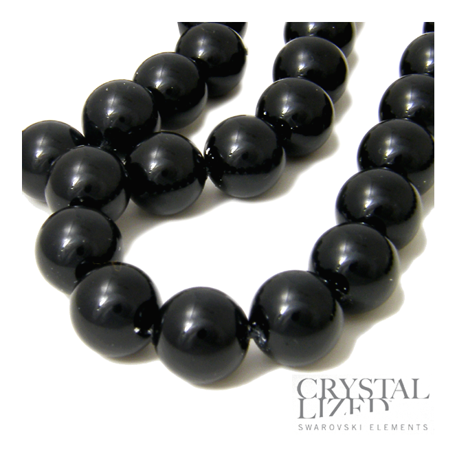 5810 12mm Round Pearl Beads - Crystal Mystic Black - 5pk