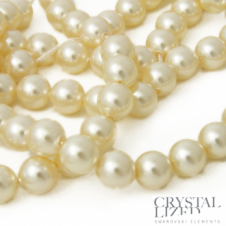 Swarovski 5810 4mm Round Pearl Beads - Crystal Cream - 50pk