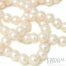 Swarovski 5810 6mm Round Pearl Beads - Crystal Creamrose Light - 25pk