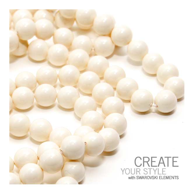 5810 6mm Round Pearl Beads - Crystal Ivory - 25pk