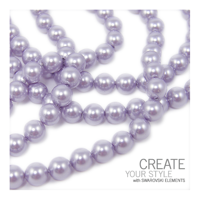 5810 6mm Round Pearl Beads - Crystal Lavender - 25pk