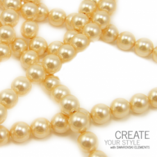 Swarovski 5810 6mm Round Pearl Beads - Crystal Light Gold - 25pk