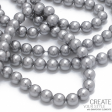 Swarovski 5810 6mm Round Pearl Beads - Crystal Light Grey - 25pk